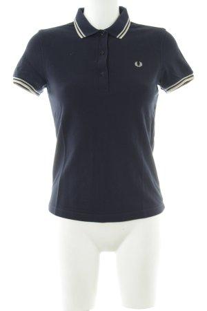 Fred Perry Polo-Shirt dunkelblau-hellbeige klassischer Stil