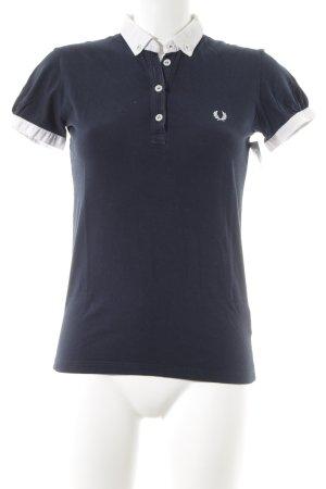 Fred Perry Polo-Shirt dunkelblau-wollweiß Casual-Look