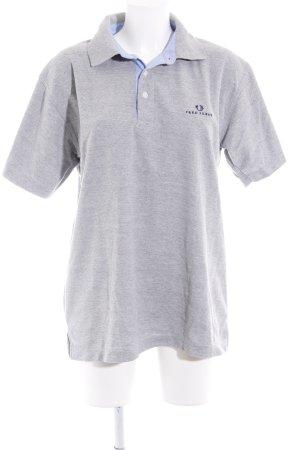 Fred Perry Polo-Shirt hellgrau-hellblau klassischer Stil