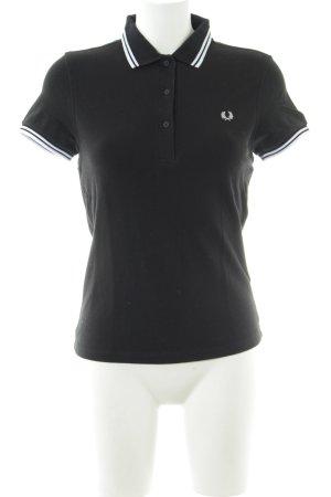 Fred Perry Polo-Shirt schwarz-weiß klassischer Stil