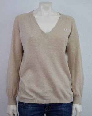 FRED PERRY PULLOVER GR. 34 BEIGE LOGO
