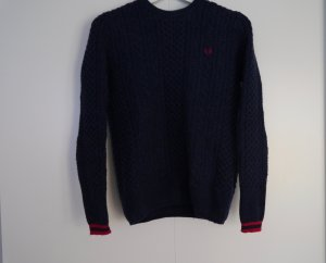 Fred Perry Pullover Lammwolle Größe 34