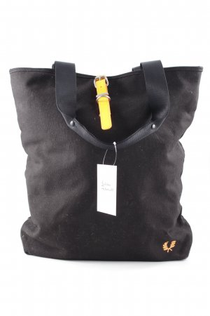 Fred Perry Shopper schwarz-neonorange Casual-Look