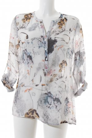 Freda Transparenz-Bluse florales Muster Casual-Look