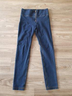 Freddy Pantalon taille haute bleu