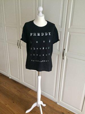 Freddy Tshirt schwarz L Glitzer YOGA