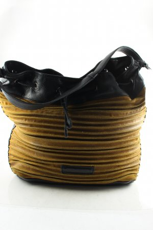 Fredsbruder Beuteltasche schwarz-ocker Vintage-Look