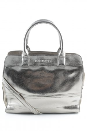 Fredsbruder Carry Bag grey brown-silver-colored wet-look