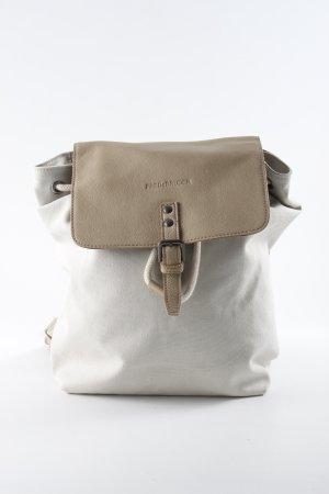 Fredsbruder Sac à dos pour ordinateur portable crème-beige style classique