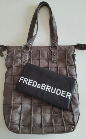 Fredsbruder Borsa shopper grigio scuro Pelle
