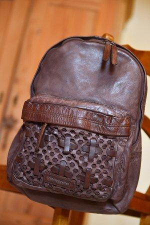 FREDSBRUDER Rucksack Leder Vintagelook Neu Etikett Braun Funatic