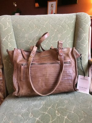 Fredsbruder Carry Bag dark brown-brown leather