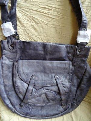 Fredsbruder Tasche Half Moon graublau Leder neu