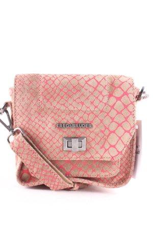 Fredsbruder Umhängetasche beige-pink Animalmuster Casual-Look