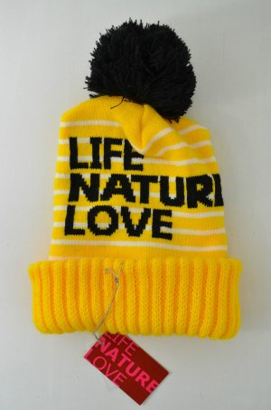 Bobble Hat yellow-black