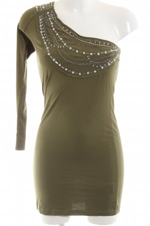 Free for Humanity One Shoulder Dress khaki wet-look