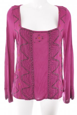 Free People A-Linien Top magenta abstraktes Muster Street-Fashion-Look