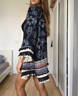Free people blogger cardigan kimono fransen Baumwolle ethno oversized xs s m