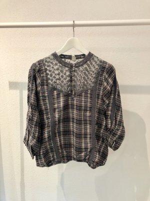Free People Geruite blouse veelkleurig