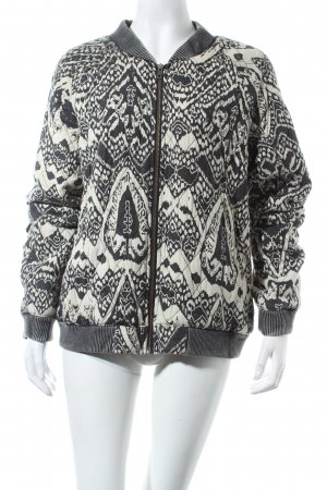 Free People Bomberjacke schwarz-hellbeige Used-Optik