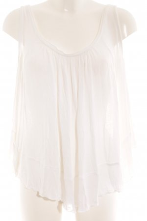 Free People Top cut out blanco puro look Boho
