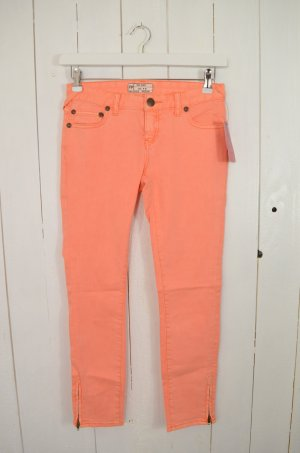 FREE PEOPLE Damen Jeans Slim Fit Zipper Baumwollgemisch Stretch Hummer Gr.26 Neu