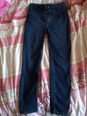 Free People Denim Jeans mit Schnürung