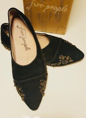 Free People Embroidered Flat Leder Schuhe #festival #blogger