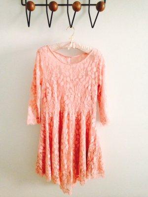 Free People Floral Mesh Lace Kleid aus Spitze
