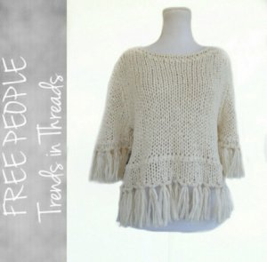 Free people fringe pullover