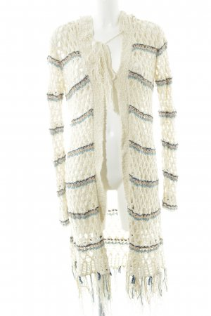 Free People Coarse Knitted Jacket loosely knitted pattern hippie style
