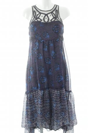 Free People Hippiekleid abstraktes Muster Hippie-Look