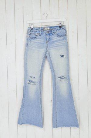 Free People Jeans Schlagjeans Vintage Optik Hellblau Baumwolle Gr.26