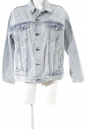 Free People Jeansjacke hellblau Used-Optik