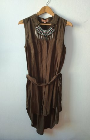 Free People Vestido camisero multicolor lyocell