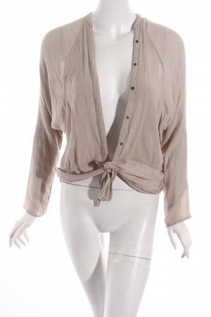 Free People Langarm-Bluse beige Casual-Look