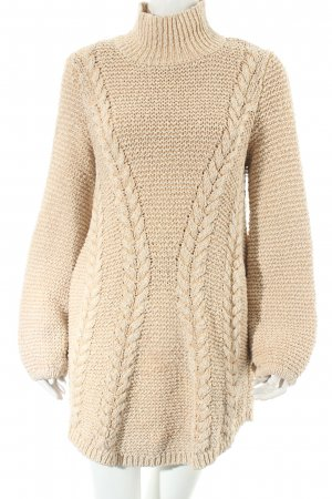 Free People Long Sweater cream cable stitch structure style
