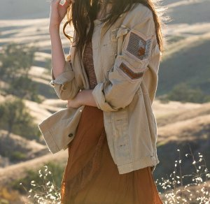 Free People Military Jacket light brown-cream