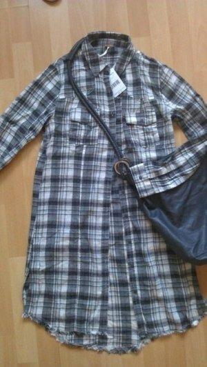 Free People neu Kleid XS S 34 36 Karo Layering Boho Grunge Hemdkleid