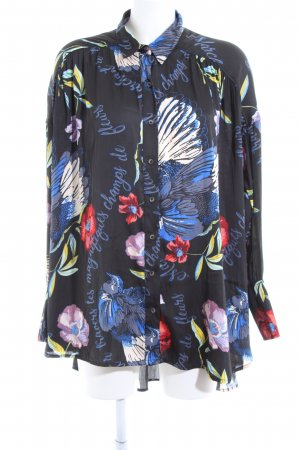 Free People Oversized Bluse Blumenmuster Casual-Look