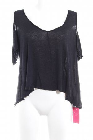 Free People Camisa holgada negro look casual