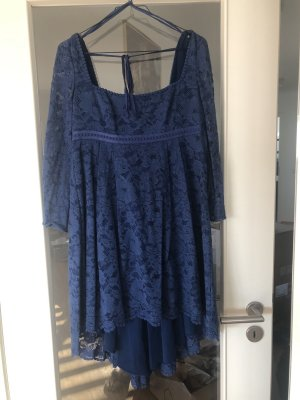 Free people Petit Trianon Dress Kleid Blau US 4 DE 36 wie NEU