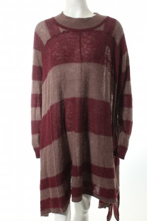 Free People Sweater Dress bordeaux-mauve striped pattern street-fashion look