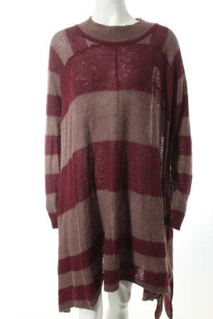 Free People Pulloverkleid bordeauxrot-blasslila Streifenmuster