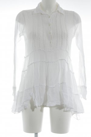 Free People Ruche blouse wit romantische stijl