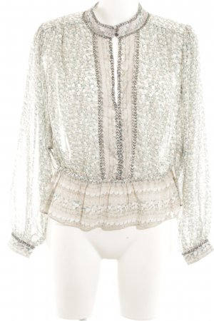 Free People Slip-over blouse kleurvlekken patroon extravagante stijl