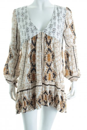 Free People Shirttunika abstraktes Muster Street-Fashion-Look