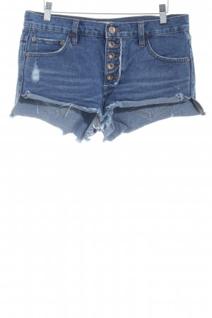 Free People Shorts blau meliert Street-Fashion-Look