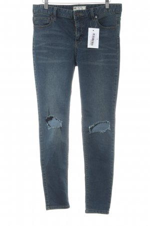Free People Skinny Jeans blau Casual-Look