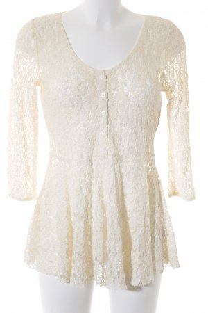 Free People Spitzenbluse creme Romantik-Look
